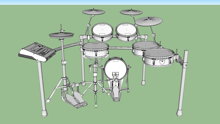 Electronic Drum Kit: Roland V-Drums TD20 royalty-free 3d model - Preview no. 44