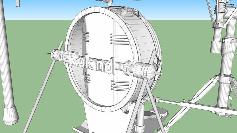 Electronic Drum Kit: Roland V-Drums TD20 royalty-free 3d model - Preview no. 57