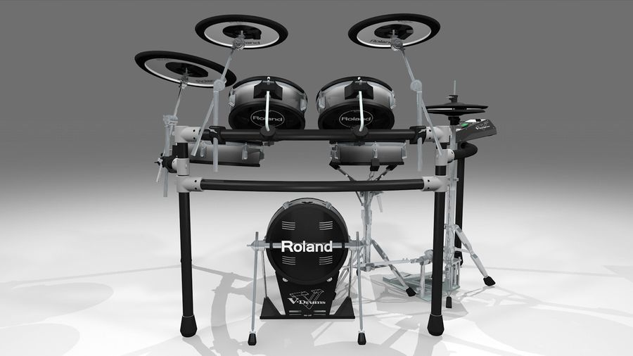 Electronic Drum Kit: Roland V-Drums TD20 royalty-free 3d model - Preview no. 5