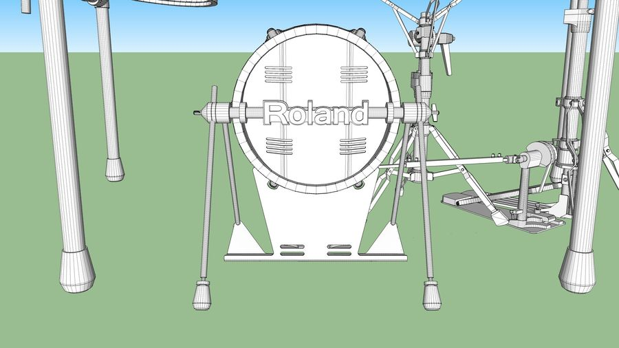 Electronic Drum Kit: Roland V-Drums TD20 royalty-free 3d model - Preview no. 56