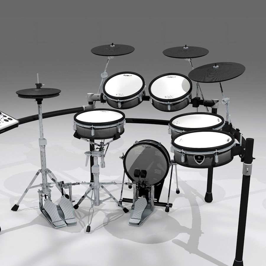 Electronic Drum Kit: Roland V-Drums TD20 royalty-free 3d model - Preview no. 1
