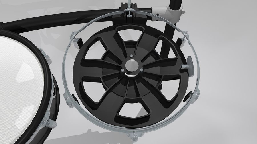 Electronic Drum Kit: Roland V-Drums TD20 royalty-free 3d model - Preview no. 14