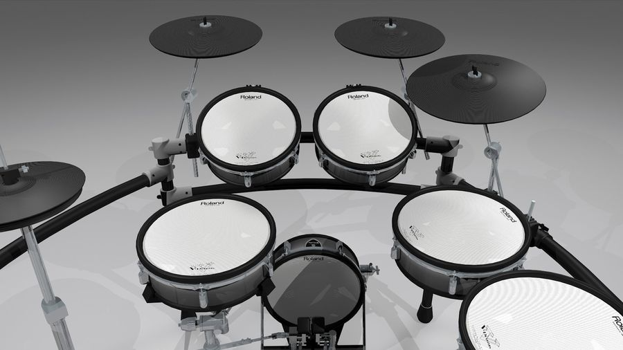 Electronic Drum Kit: Roland V-Drums TD20 royalty-free 3d model - Preview no. 7