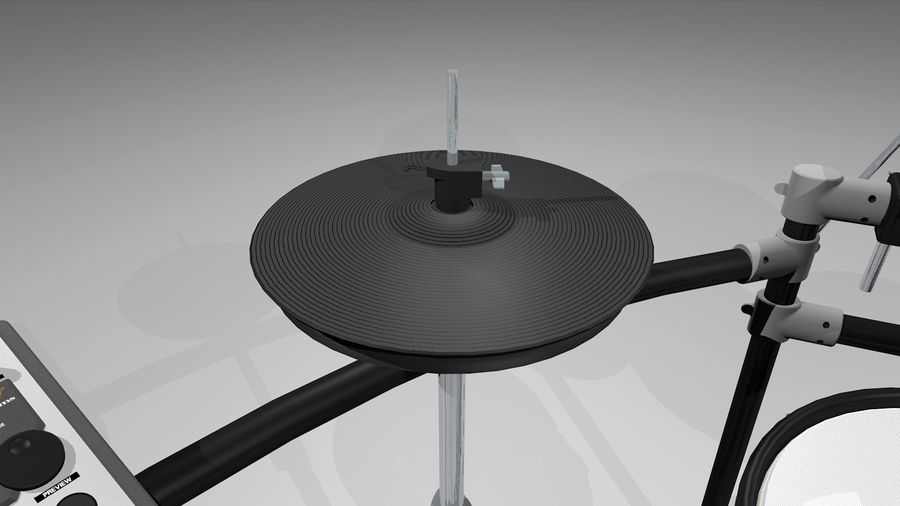 Electronic Drum Kit: Roland V-Drums TD20 royalty-free 3d model - Preview no. 11