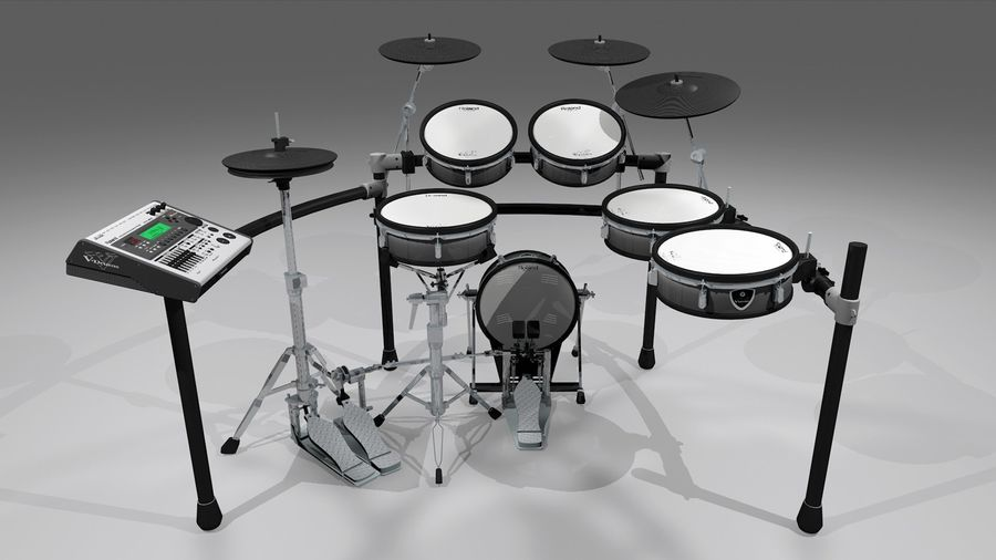 Electronic Drum Kit: Roland V-Drums TD20 royalty-free 3d model - Preview no. 3