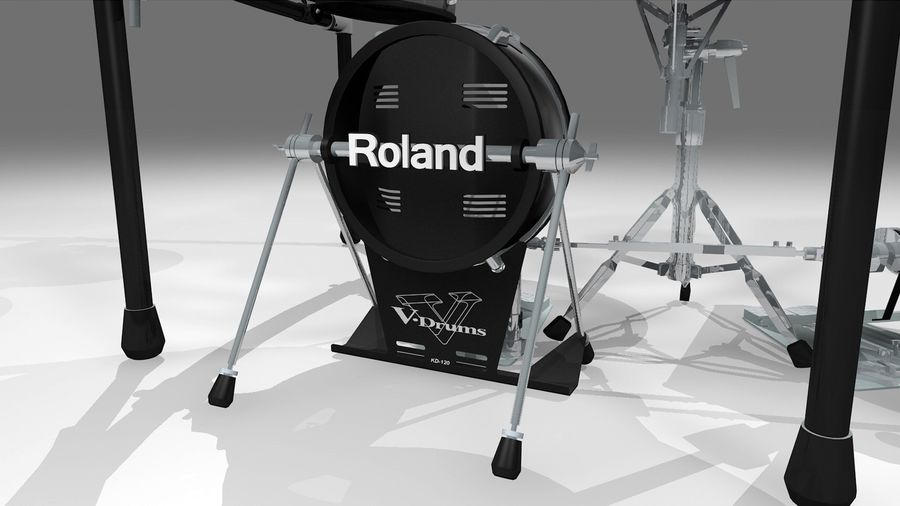 Electronic Drum Kit: Roland V-Drums TD20 royalty-free 3d model - Preview no. 17