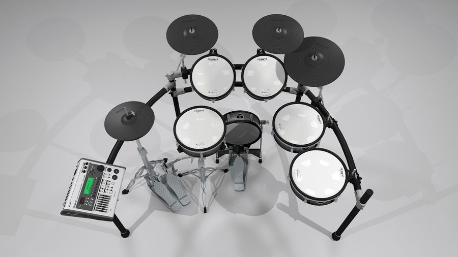 Electronic Drum Kit: Roland V-Drums TD20 royalty-free 3d model - Preview no. 4
