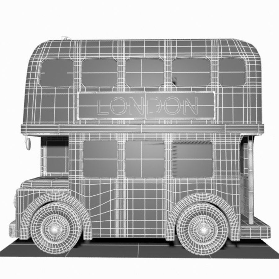 Cartoon Double-Decker Bus royalty-free 3d model - Preview no. 17