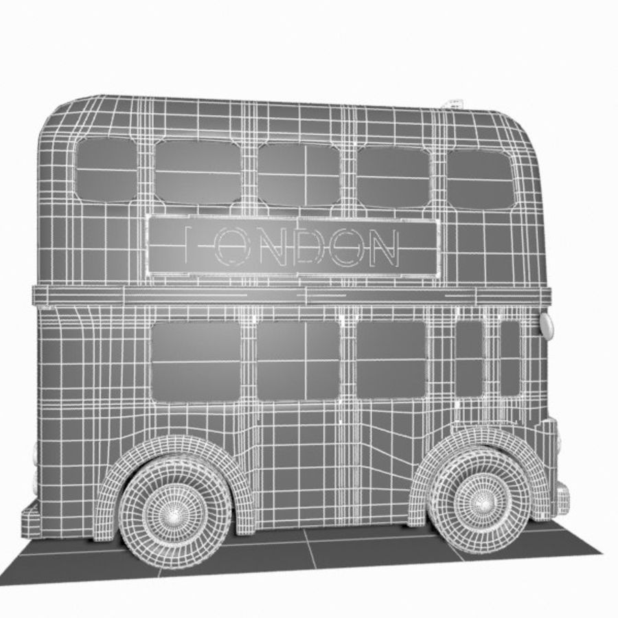 Cartoon Double-Decker Bus royalty-free 3d model - Preview no. 15