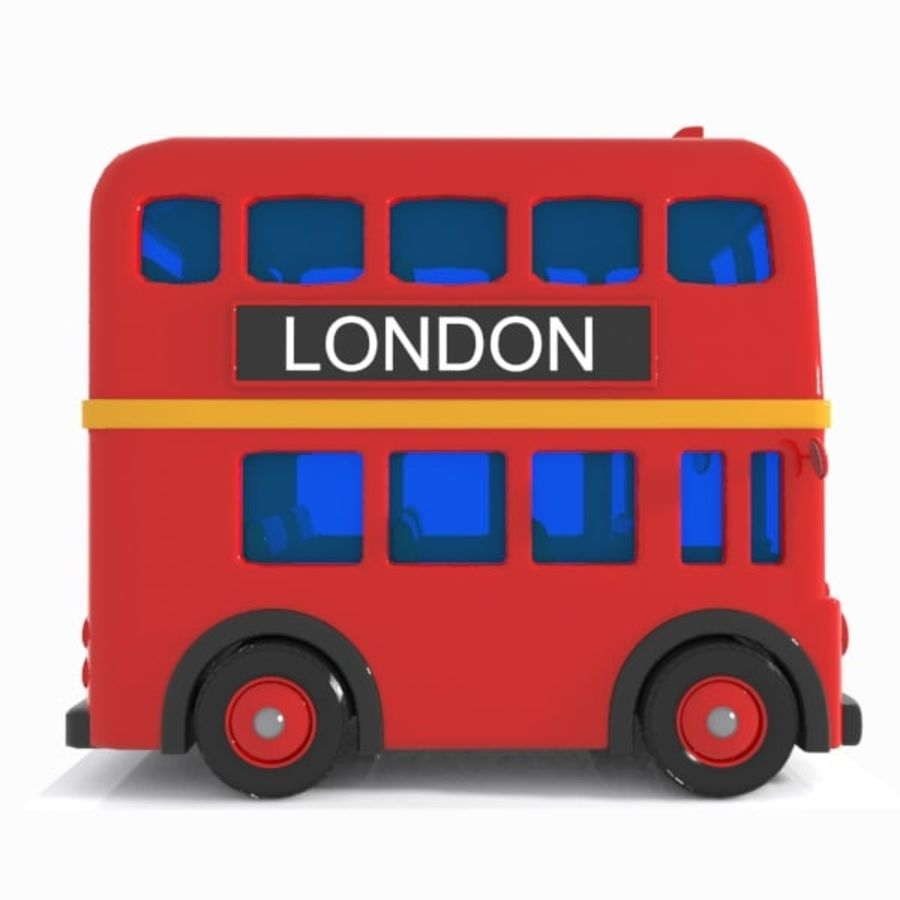 Cartoon Double-Decker Bus royalty-free 3d model - Preview no. 10