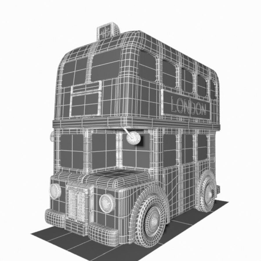 Cartoon Double-Decker Bus royalty-free 3d model - Preview no. 16