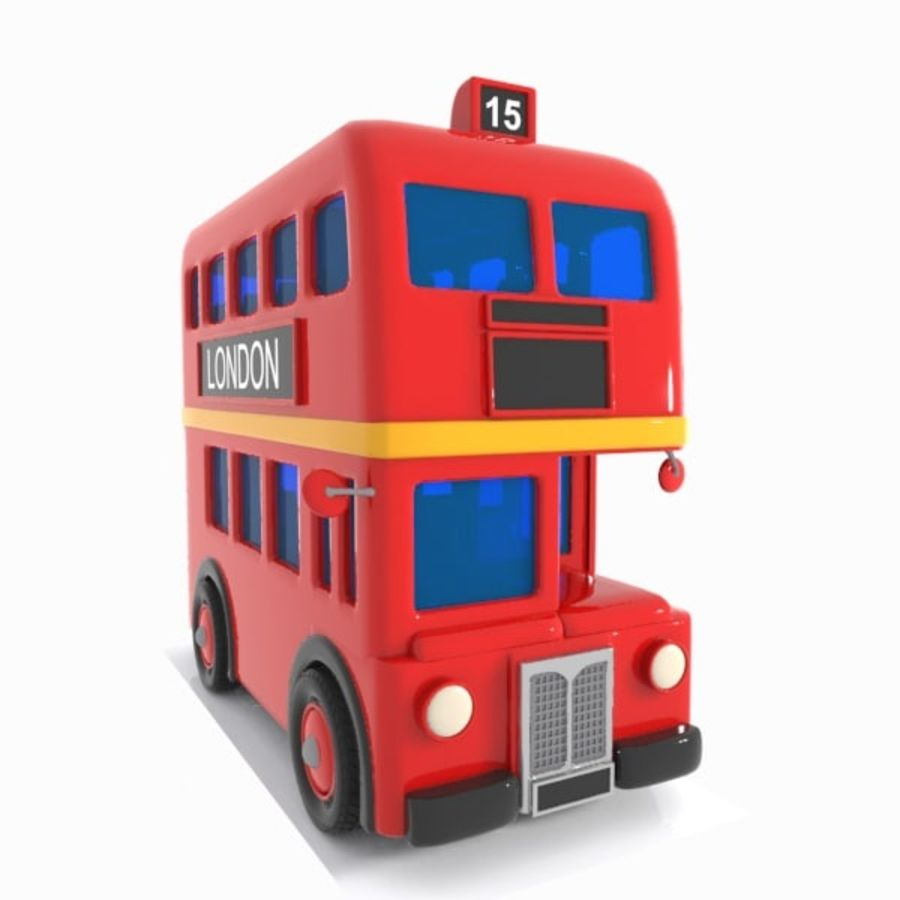 Cartoon Double-Decker Bus royalty-free 3d model - Preview no. 13
