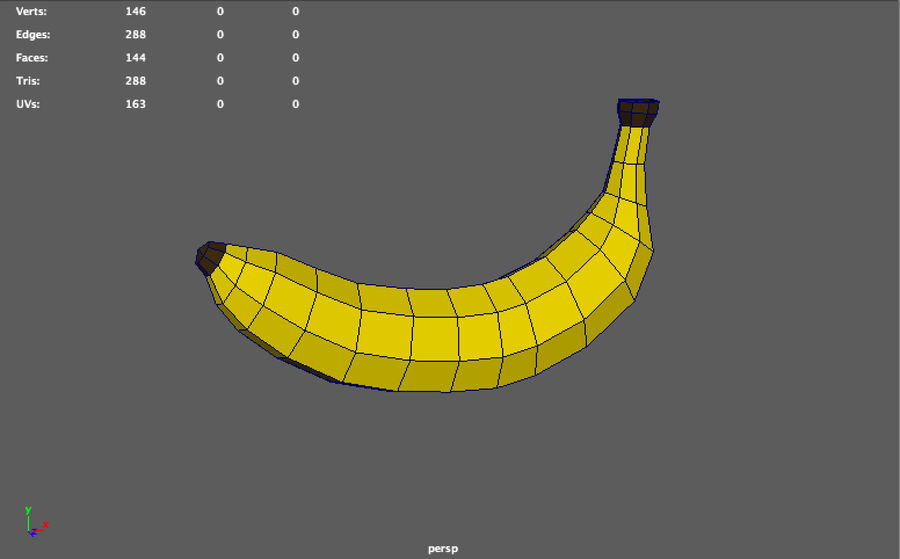 låg poly banan (spel redo) royalty-free 3d model - Preview no. 6