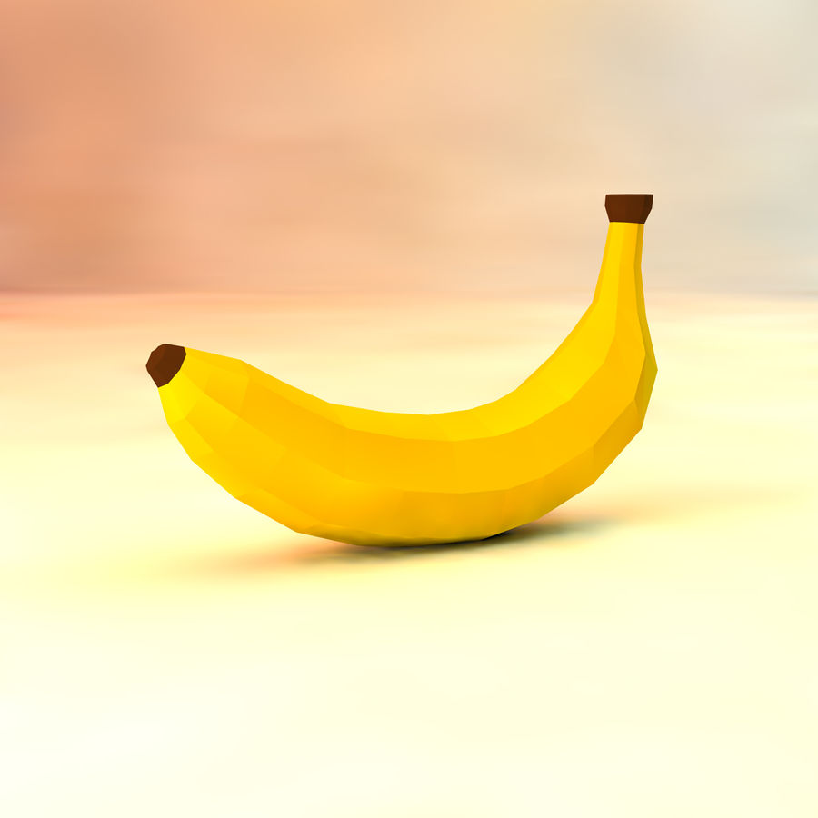 låg poly banan (spel redo) royalty-free 3d model - Preview no. 1