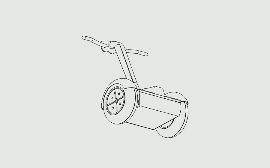 Segway two-wheeled vehicle royalty-free 3d model - Preview no. 7