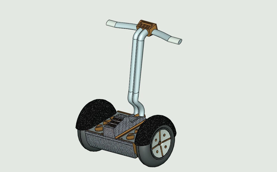 Segway two-wheeled vehicle royalty-free 3d model - Preview no. 4