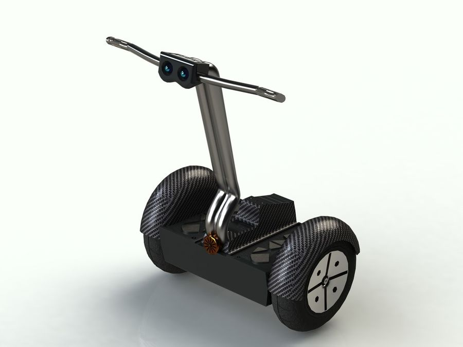 Segway two-wheeled vehicle royalty-free 3d model - Preview no. 1