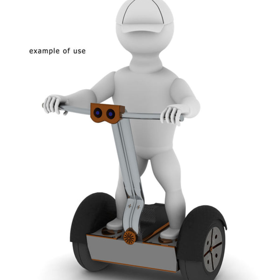 Segway two-wheeled vehicle royalty-free 3d model - Preview no. 3