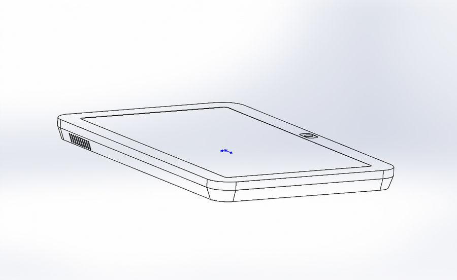 электронный планшет royalty-free 3d model - Preview no. 5