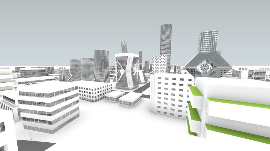 Город будущего royalty-free 3d model - Preview no. 15