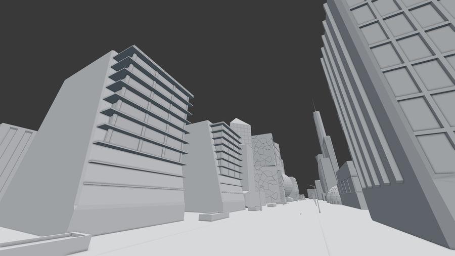 Город будущего royalty-free 3d model - Preview no. 16