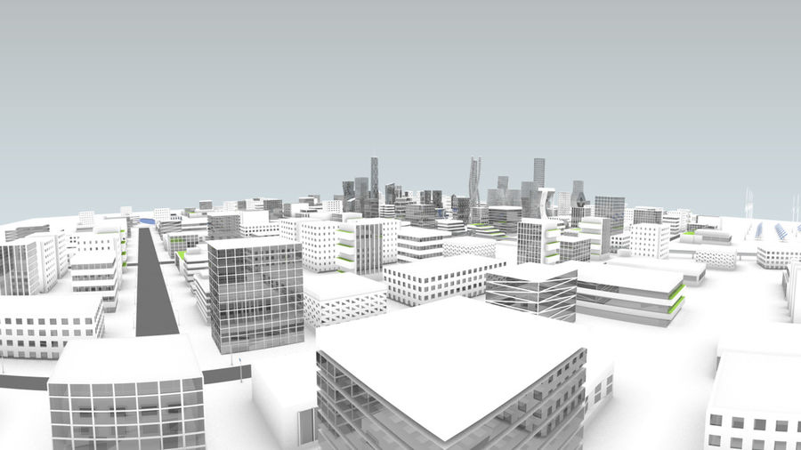 Future city royalty-free 3d model - Preview no. 4