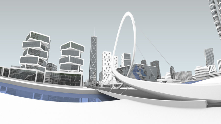 Future city royalty-free 3d model - Preview no. 2