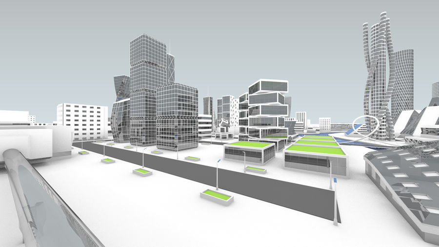 Город будущего royalty-free 3d model - Preview no. 13