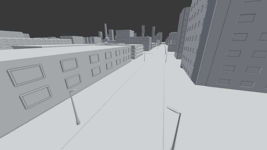 Город будущего royalty-free 3d model - Preview no. 20