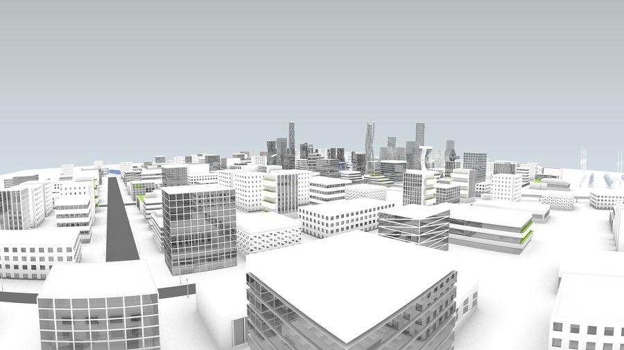 Город будущего royalty-free 3d model - Preview no. 4