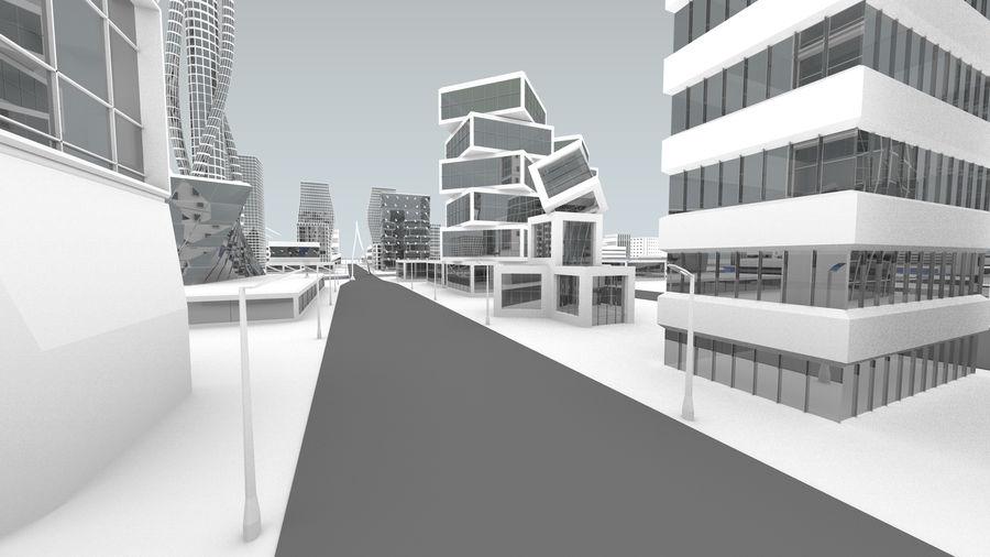 Город будущего royalty-free 3d model - Preview no. 28