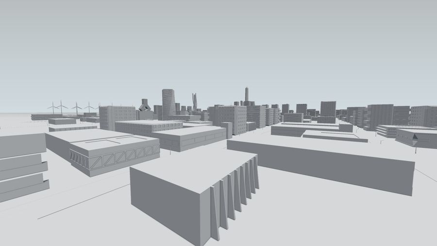 Future city royalty-free 3d model - Preview no. 23