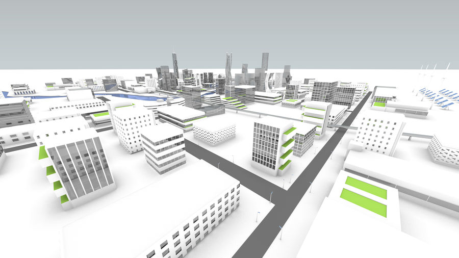 Future city royalty-free 3d model - Preview no. 27