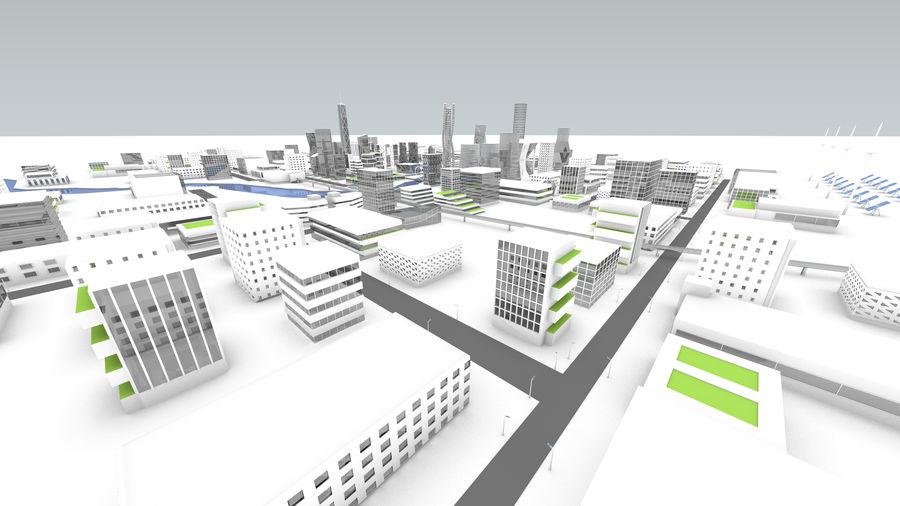 Город будущего royalty-free 3d model - Preview no. 27