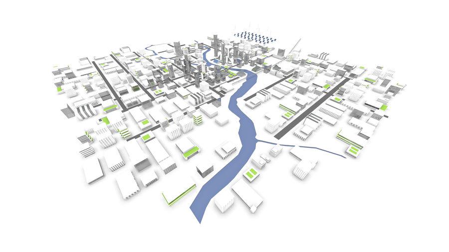 Город будущего royalty-free 3d model - Preview no. 10