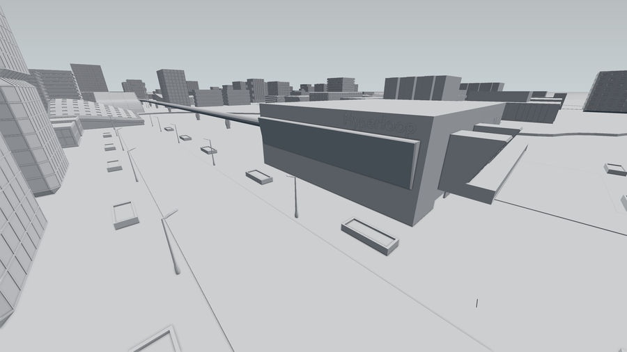 Город будущего royalty-free 3d model - Preview no. 25