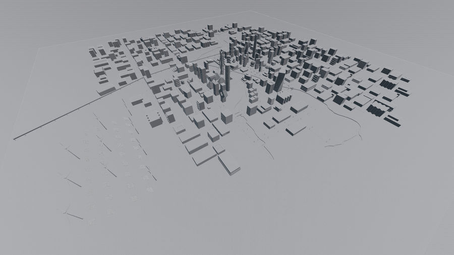 Future city royalty-free 3d model - Preview no. 19
