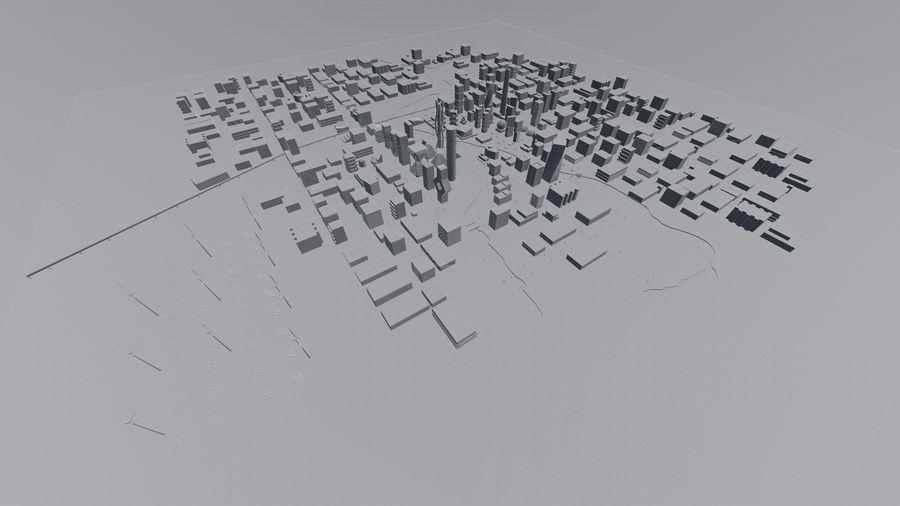 Город будущего royalty-free 3d model - Preview no. 19