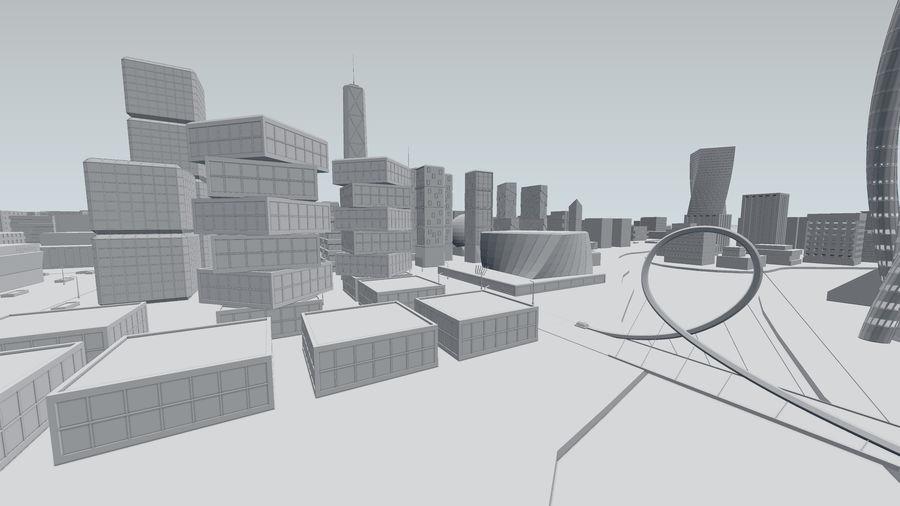Город будущего royalty-free 3d model - Preview no. 24