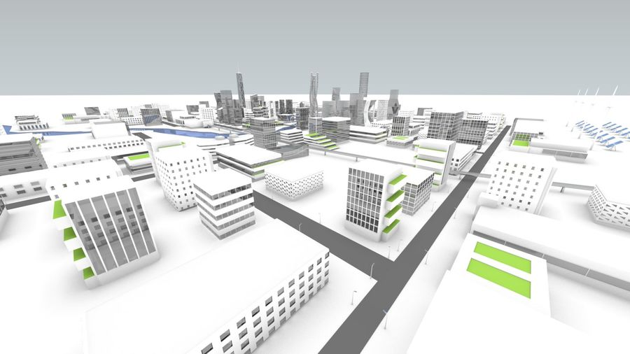 Future city royalty-free 3d model - Preview no. 12