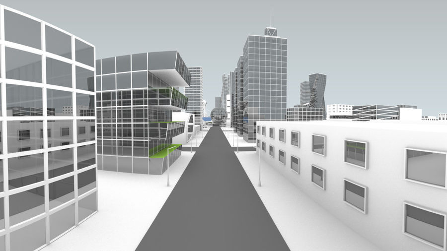 Future city royalty-free 3d model - Preview no. 5
