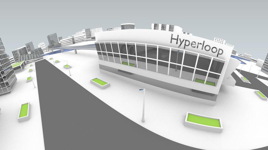 Город будущего royalty-free 3d model - Preview no. 9