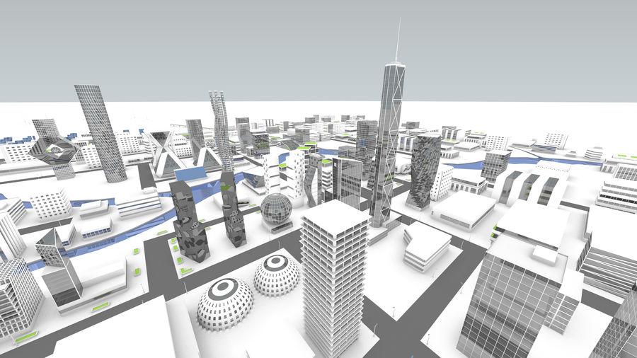 Город будущего royalty-free 3d model - Preview no. 3