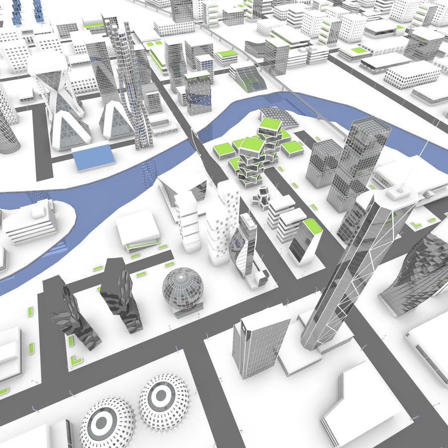 Город будущего royalty-free 3d model - Preview no. 1