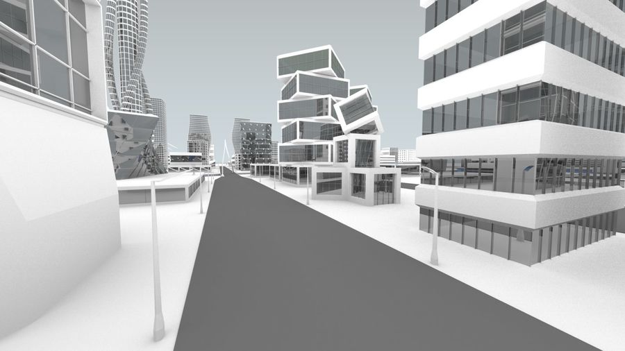 Future city royalty-free 3d model - Preview no. 28