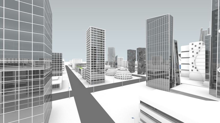 Future city royalty-free 3d model - Preview no. 11