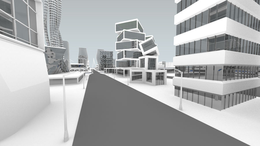 Город будущего royalty-free 3d model - Preview no. 8