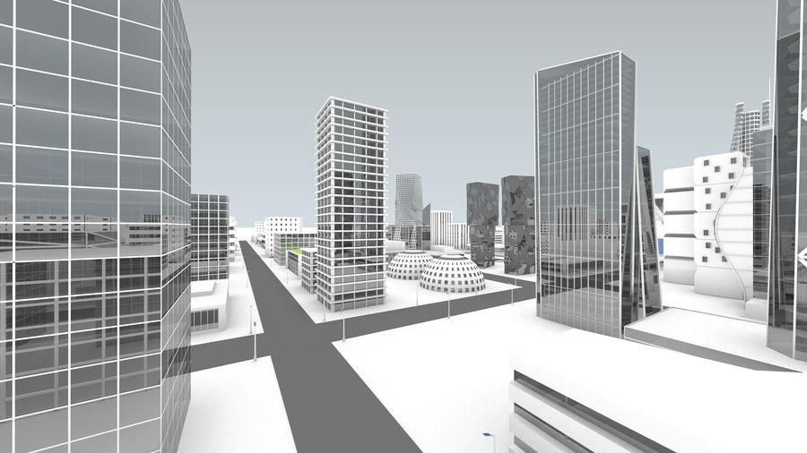 Город будущего royalty-free 3d model - Preview no. 11