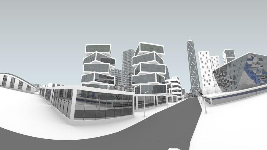 Город будущего royalty-free 3d model - Preview no. 6