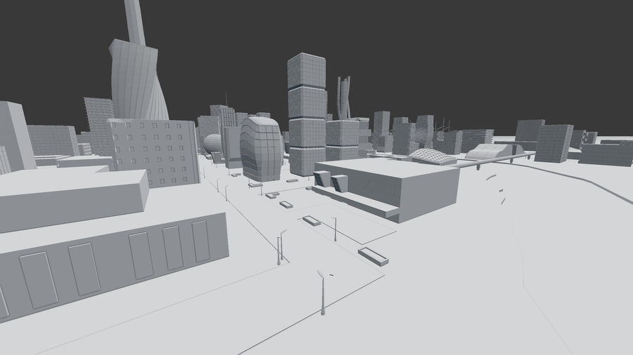 Future city royalty-free 3d model - Preview no. 17